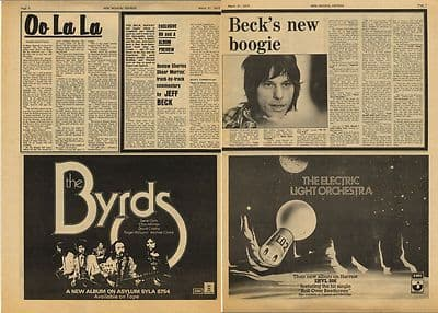 Jeff Beck New Boogie Vintage Music Press Interview Article/cutting/clipping 1973