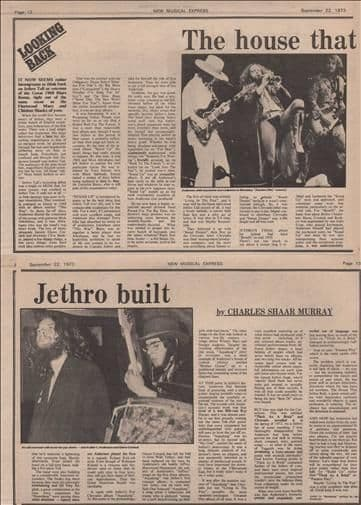 Jethro Tull House that jethro built Music Press Article/cutting/clipping 1973