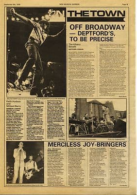Joy Division KEITH HUDSON Live Review Music Press article/cutting/clipping 1978