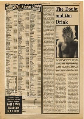 Kevin Ayers The Doubt... Interview Vintage Music Press Article/cutting/clipping 1974