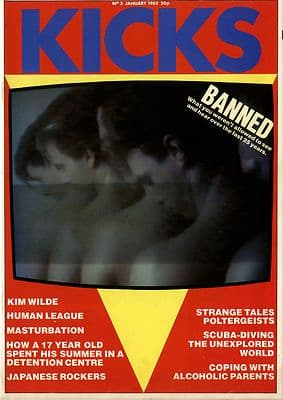 Kicks Magazine No 3 January 1982 Duran Duran Human League Japanese Rockers Banned music Kim Wilde