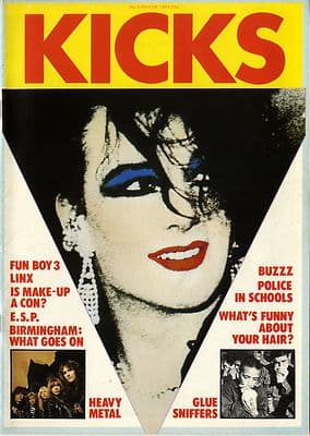 Kicks Magazine No 5 March 1982 Iron Maiden Glue Sniffing Fun Boy Three Linx Boy George ESP Motorhead