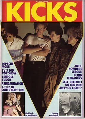 Kicks Magazine No 6 April 1982 Depeche Mode Motorhead Anti Nowhere League Eddie Tenpole Tudor