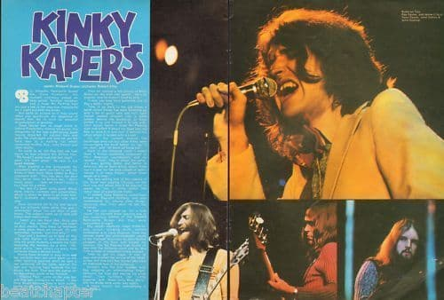 Kinkskinky Kapers 2 page Music Press Article cutting/clipping 1973