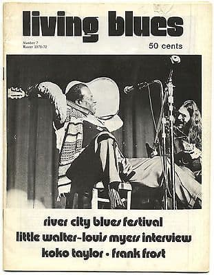 LIVING BLUES Magazine 7 1971 Little Walter Koko Taylor Frank Frost Junior Parker River City Blues