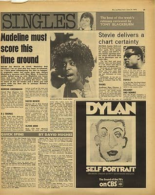 MADELINE BELL Bob Dylan Vintage Music Press Article/cutting/clipping 1970