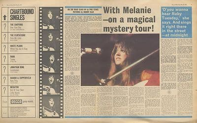 MELANIE SAFKA Interview centre pages Vintage Music Press article/cutting/clipping 1971