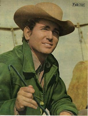 MICHAEL LANDON approx 10X13 inch pinup poster size press cutting/clipping 1966 Original