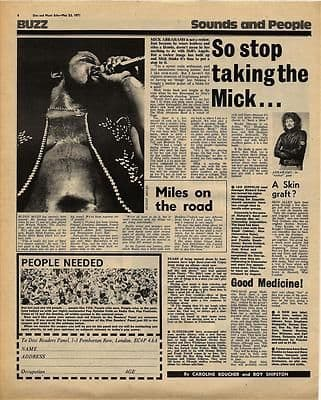 MICK ABRAHAMS BUDDY MILES Interview Vintage Music Press article/cutting/clipping 1971