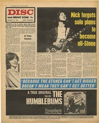 MICK TAYLOR Interview Vintage Music Press Article/cutting/clipping 1970