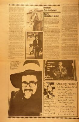 MIKE ABSALOM IAN ANDERSON 1969 cutting/clipping/article/clipping