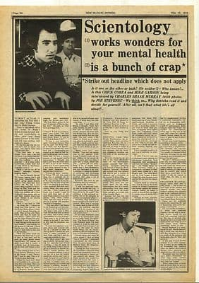 MIKE GARSON & CHICK COREA Interview Vintage Music Press Article/cutting/clipping 1974