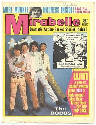 Mirabelle Magazine/Comic 15 April 1967 the Monkees the Dodos the Tremeloes