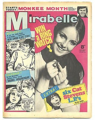 Mirabelle Magazine/Comic 18 March 1967 Monkees New Vaudeville Band The Move Beach Boys