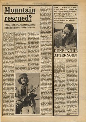 MOUNTAIN FELIX PAPPALIRDI Interview Vintage Music Press Article/cutting/clipping 1974