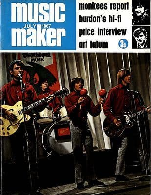Music Maker Magazine UK 7/1967 Eric Burdon Alan Price Art Tatum BB King Monkees George Wein