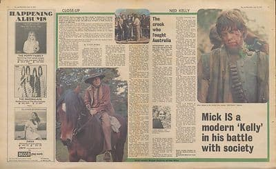 Mick Jagger Interview centre pages Vintage Music Press article/cutting/clipping 1970