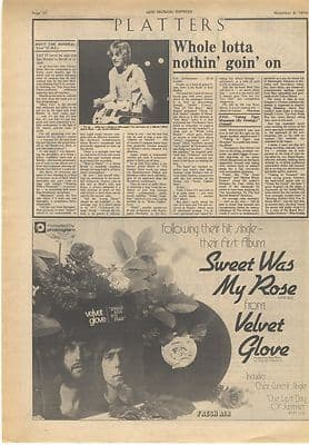 Mott The Hoople Brian Eno LP reviews Vintage Music Press article/cutting/clipping 1974