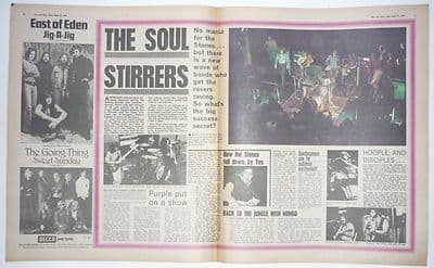 Mott The Hoople Deep Purple YES Vintage Music Press Article/cutting/clipping 1971