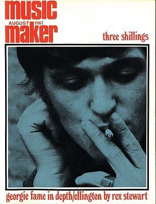 Music Maker Magazine UK 8/1967 Deram & Polydor Record label Duke Ellington Georgie Fame Drums