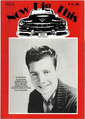 Now Dig This Magazine Issue No 48 Johnnie Allan Glen Glenn Ricky Nelson Eddie Fontaine