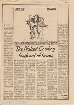 Neil Young Naked Cowboy original Vintage Music Press Article cutting/clipping 1973
