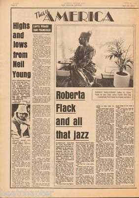 Neil Young ROBERTA FLACK & all that jazz original Vintage Music Press Article cutting/clipping 1973