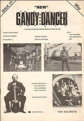 New Gandy Dancer Vintage Music magazine No 21 Shadows Spotnicks Surf Raiders Ricky King