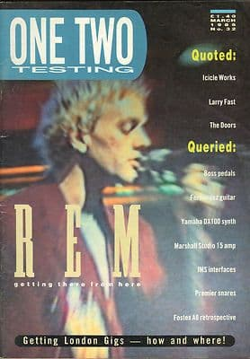 One Two Testing Magazine March 1986 The Doors Larry Fast REM Icicle Works
