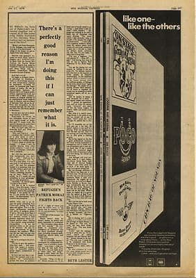 PATRICK MORAZ Interview Vintage Music Press Article/cutting/clipping 1974