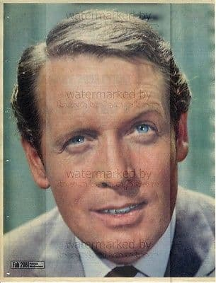 PATRICK McGOOHAN size approx 10X13 inch pinup poster size press cutting/clipping 1967