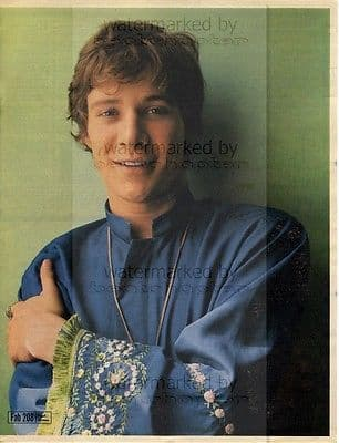 PAUL JONES size approx 10X13 inch pinup poster size press cutting/clipping 1967