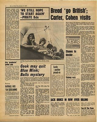 PIRATE RADIO North Sea DJs Vintage Music Press Article/cutting/clipping 1970