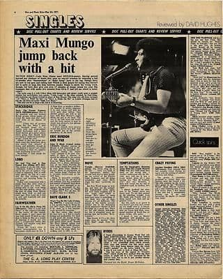 Paul McCartney CHICAGO Vintage Music Press article/cutting/clipping 1971