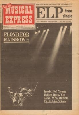 Pink Floyd UK Poster Size Original Vintage music press Press Cover cutting/clipping 1974