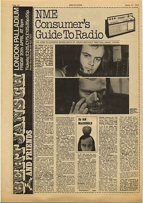 RADIO Consumers guide by Ian Macdonald Vintage Music Press Article/cutting/clipping 1973
