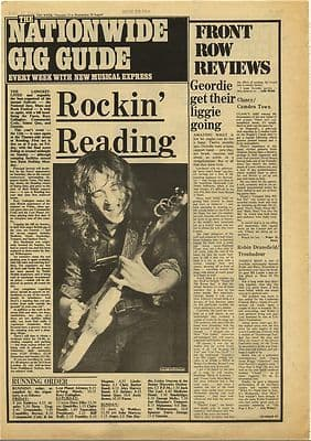 READING ROCK FESTIVAL Line up Vintage Music Press Article/cutting/clipping 1973
