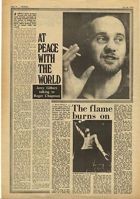 ROGER CHAPMAN Interview MIKE PATTO Vintage Music Press Article/cutting/clipping 1973