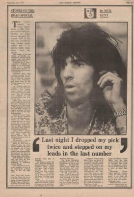 Rolling Stones On the road special 3 page original Vintage Music Press Article 1973