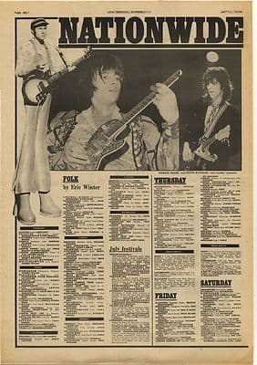 RONNIE WOOD KEITH RICHARD NEIL INNES Vintage Music Press Article/cutting/clipping 1974