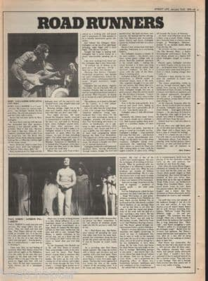 Rory Gallagher 1976 Newcastle Live review original Vintage Music Press article