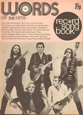 Roxy Music Record Song Book WORDS Magazine 1973