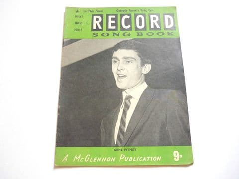 Record Song Book Magazine 1-4-1964 No 6 ? Gene Pitney on cover
