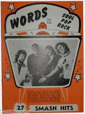 Record Song Book WORDS Magazine CLIMAX BLUES BAND 1-6-1978