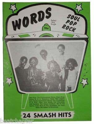 Record Song Book WORDS Magazine COMMODORES 1-9-1979
