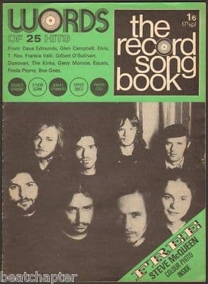 Record Song Book WORDS Magazine FAIR WEATHER 1-1-71