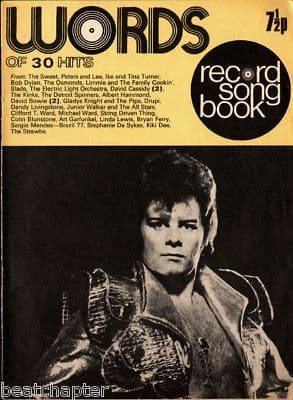Record Song Book WORDS Magazine GARY GLITTER 1-11-1973