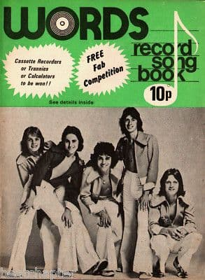 Record Song Book WORDS Magazine KENNEY 1-1-1976