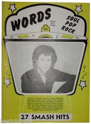 Record Song Book WORDS Magazine LEO SAYER 1-11-1979