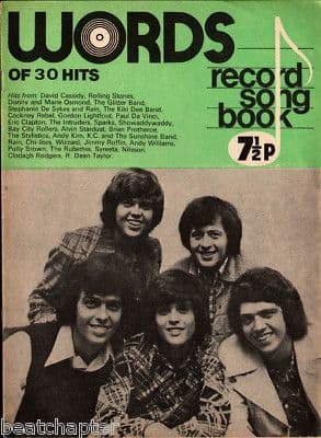 Record Song Book WORDS Magazine THE OSMONDS 1-9-1974